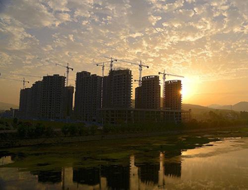 淅建混凝土外加剂施工案例:金河新区