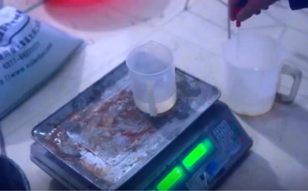 粉体速凝剂实验